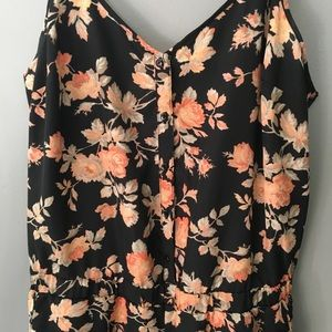 Jack by BB Dakota Pants - Jack by B.B. Dakota floral jumpsuit
